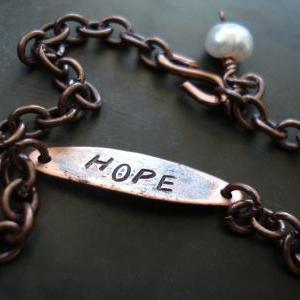 copper bracelet- inspirational jewe..