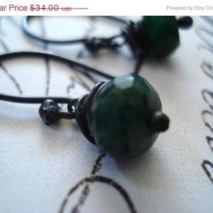 ON SALE Emerald Earring- Emerald gr..